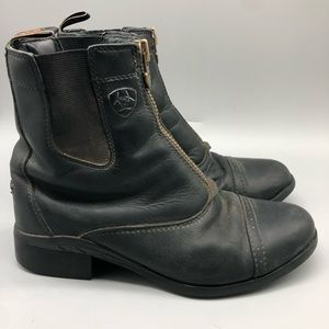 Ariat elastic ankle leather boots